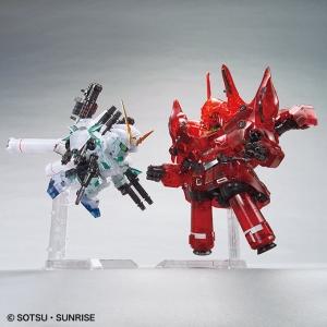 BB戦士 ガンダムベース限定 フルアーマー・ユニコーンガンダム&ネオ・ジオング[クリアカラー] (4)