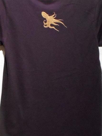 手描きTシャツ タコテンロゴマーク