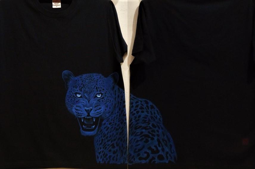 手描きTシャツ 豹