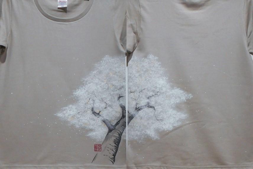 手描きTシャツ 桜