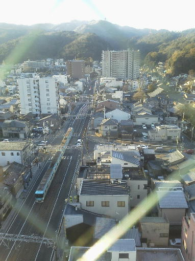 大津の京阪電車