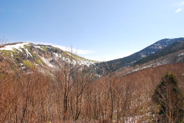 根子岳と四阿山のツーショット