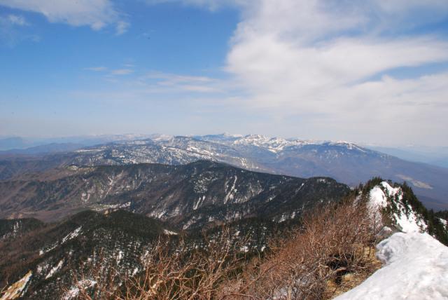 四阿山の山頂から北の眺め_草津白根