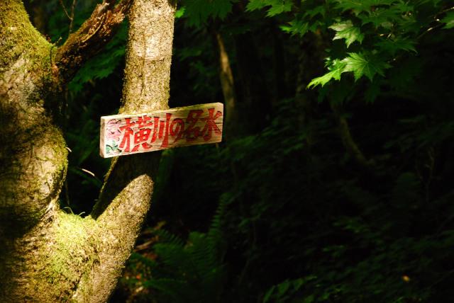 恵那山_登山道_横川の名水