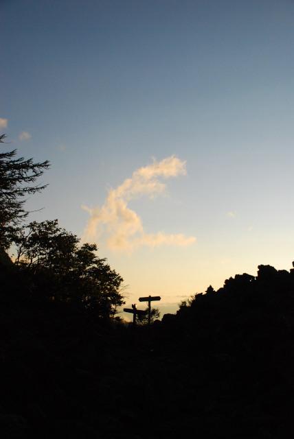 甲斐駒_登山道_夜明け