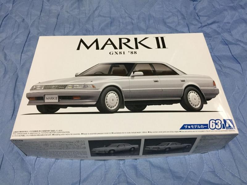 アオシマ モデルカー GX81 マークⅡ