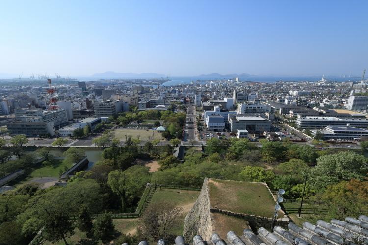 丸亀城からの眺め-Ss