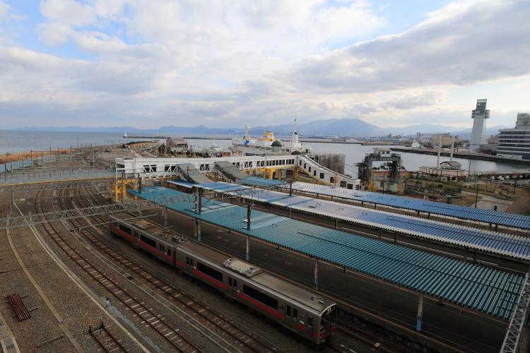 青森駅と青森港-Ss
