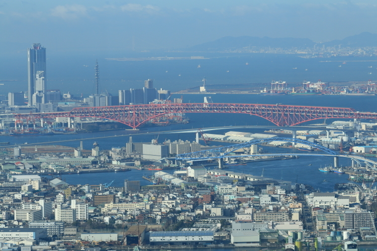 港大橋、神戸方向-S