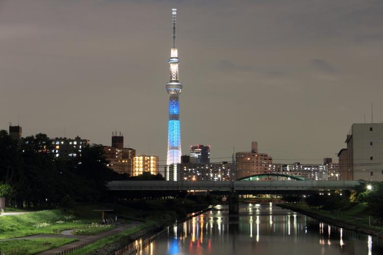 七夕ライトアップ白糸の滝
