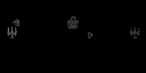 Halloweenロゴ黒3
