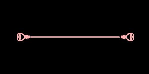 ハートライン黒pink