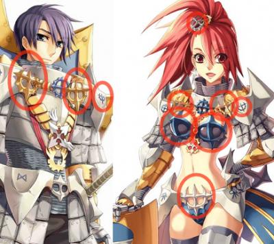 異なる紋章?02