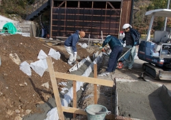 浄土寺擁壁工事2