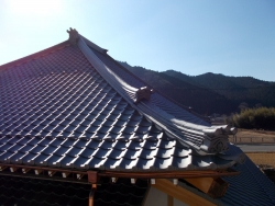 浄土寺本堂屋根 20171220 2