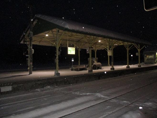 音威子府②雪駅