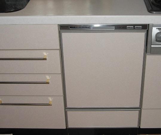 ビルトイン食器洗い乾燥機 取付後