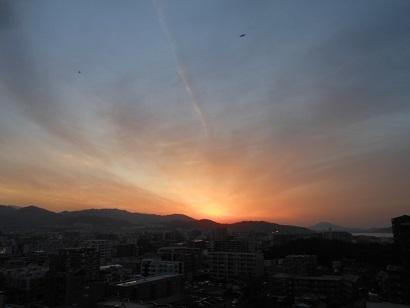 夕陽20日。