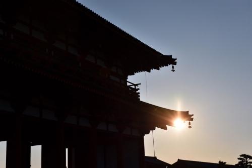 平城宮跡夕陽1