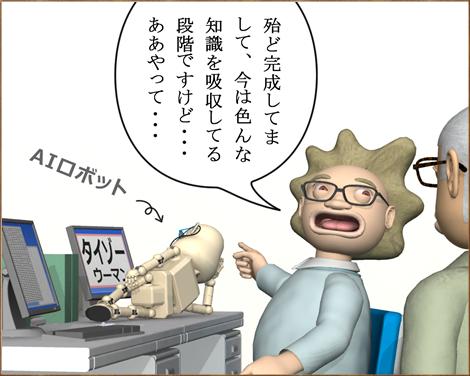 3Dキャラ漫画AI(人工知能)ロボット①2