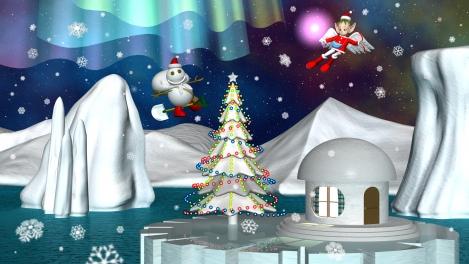 2017クリスマス3Dキャラクター壁紙