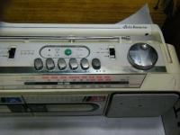 SANYO stereo radio double cassette recrder U4-W40(W)重箱石006