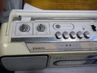 SANYO stereo radio double cassette recrder U4-W40(W)重箱石005