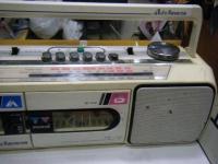 SANYO stereo radio double cassette recrder U4-W40(W)重箱石004