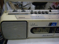 SANYO stereo radio double cassette recrder U4-W40(W)重箱石003