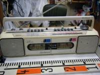 SANYO stereo radio double cassette recrder U4-W40(W)重箱石002