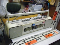 SANYO stereo radio double cassette recrder U4-W40(W)重箱石001