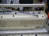 SANYO stereo radio double cassette recrder U4-W40(W)重箱石012