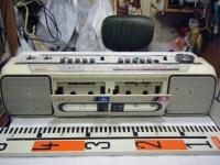 SANYO stereo radio double cassette recrder U4-W40(W)重箱石007