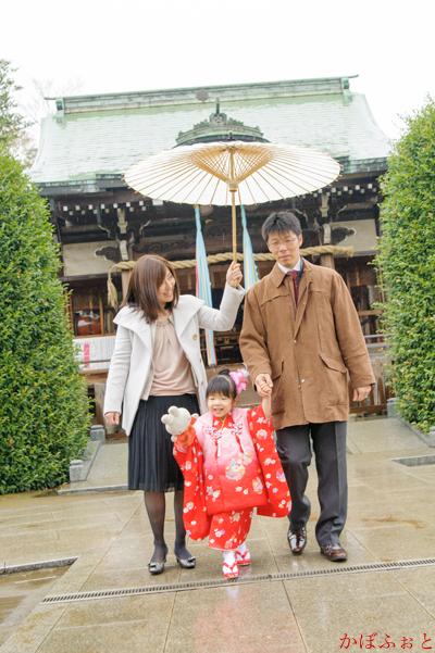 七五三の出張撮影(3歳)@板橋区・徳丸北野神社 by「かぼふぉと」
