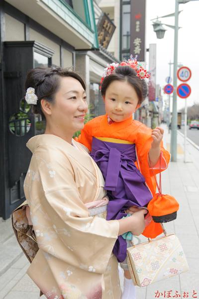 七五三の出張撮影(3歳)@鎌倉市・鶴岡八幡宮「かぼふぉと」