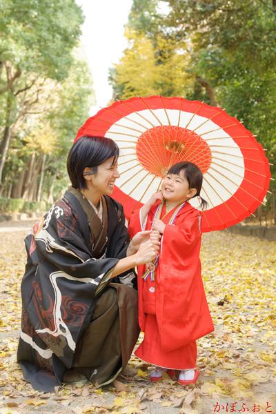 七五三の出張撮影(3歳)@杉並区・井草八幡宮 photo by 「かぼふぉと」
