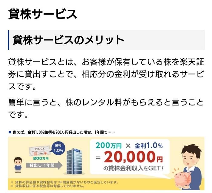 貸株のサービス