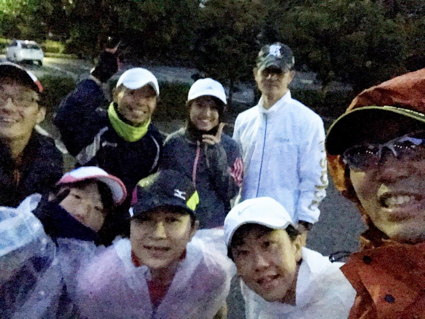 金沢マラソン前の朝練