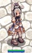 [衣装]ウサギ耳の花帽子