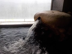 千貫石温泉湯口