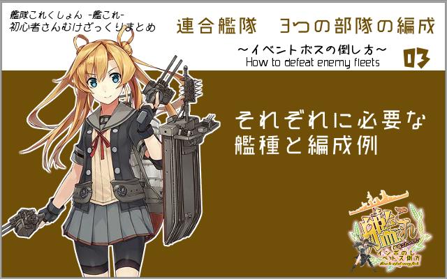 艦これの連合艦隊初歩。編成例簡単まとめ。