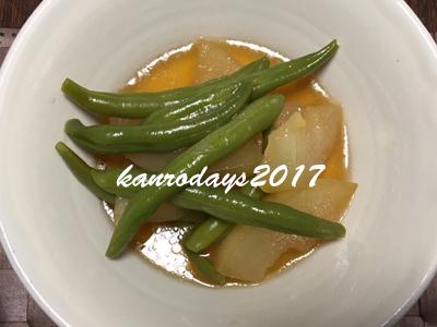 20170813_冬瓜とインゲン煮物