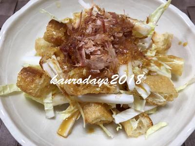 20170113_白菜と油揚げのサラダ