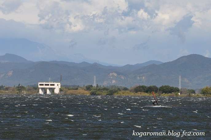 台風後の谷中湖2