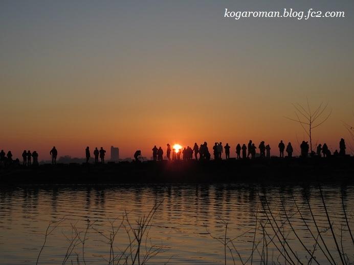2018谷中湖の初日の出3