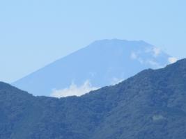 戸田の歩道橋近くの富士山