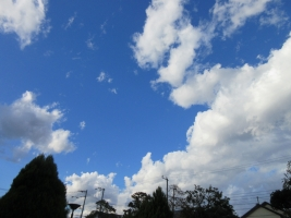 青い空白い雲2017.11月