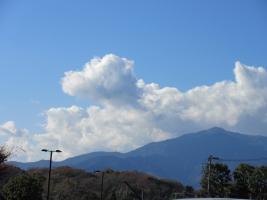 12月の青空と白雲