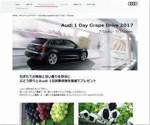懸賞 Audi 1Day Grape Drive 2017 Audi