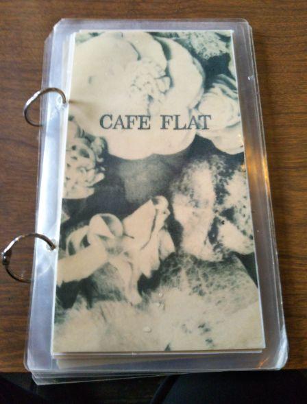 CAFE FLAT メニューブック
